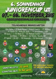 Plakat mit Logos zum U11-Turnier der SG Wildeck 2015