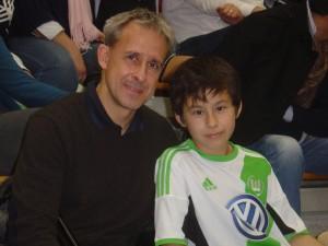 Litti mit Sohn beim U11-Turnier 2013